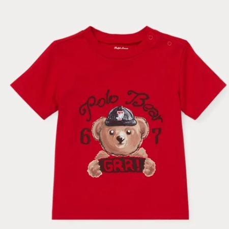 Polo Tee Cotton Bear Lauren Jersey 2t Ralph 6yYfvmgIb7